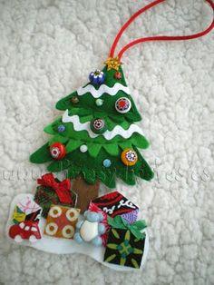 Inspiración para Labores de Navidad en Fieltro   Aprender manualidades es facilisimo.com