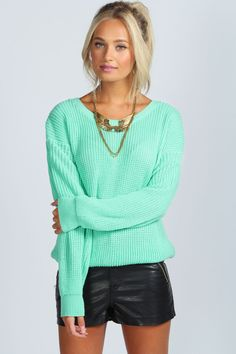 Oversized Knit Sweater at boohoo.com