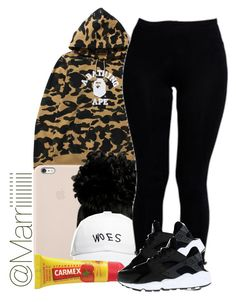 """Grocery Store"" by trill-forlife ❤ liked on Polyvore featuring Black Apple, October's Very Own, Boohoo, Carmex and NIKE"