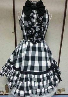 Black White Check JSK Lolita Angelic Pretty VG | eBay