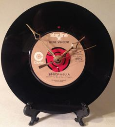 Recycled GENE VINCENT 7 Record  Song: Be-Bop-A-Lula
