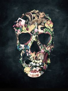 Illustrated skull by Ali Gulec.
