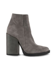 GRUMMAN block heeled ankle bootie the trend! Winter 2017, Fall Winter, Ankle Booties, Block Heels, Booty, Grey, Shoes, Black, Fashion
