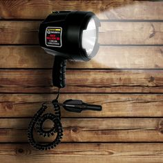 Make the night more light and bright with this Brinkmann Spotlight, especially for hunting lovers. This powerful Million 3 candle power, 12 Volts spotlight produces a super high intensity beam. It features a powerful halogen bulb for maximum brightness and a rubber gasket lens seal for water and shock resistance. It has a tough ABS plastic construction, convenient metal bracket for hanging or storage and includes a handy nylon carrying case.