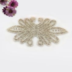 Quality Diamond Bridal Ivory,Shinning for every stones,10.0x20.5 size perfects for Wedding dress belt patch,or more designs in www.sigiving.com