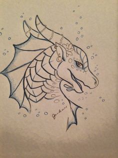 Credit to the artist👏 Art Drawings Sketches Simple, Cool Drawings, Wings Of Fire Dragons, Dragon Sketch, Dragon Artwork, Dragon Pictures, Fire Art, Sketchbook Inspiration, Animal Drawings
