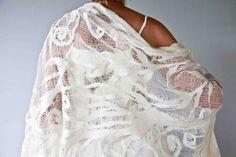 Silk and Wool Wrap on Cotton Gauze par wendybailye sur Etsy, $275,00
