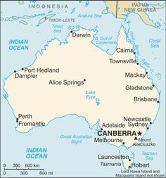 Australia Map With Cities   Free Pictures Of Country Maps