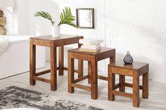 Konferenčné stoly : Set 3 stolíkov Freddo