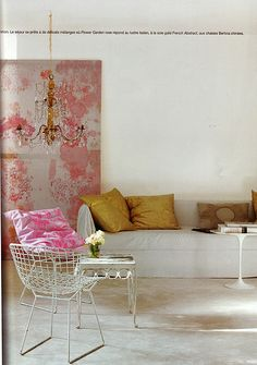 yellow + pink #livingroom #home #decor