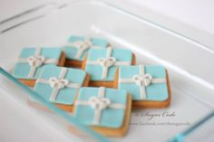 Fondant Tiffany Box / gift box topper for cupcakes and cookies