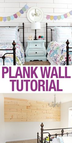 PLANK WALL TUTORIAL: easy step by step instructions! LOVE the finished room!
