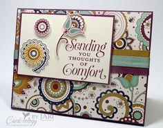 Stampin' Up! Paisleys & Posies Sympathy - Card-iology By Jari