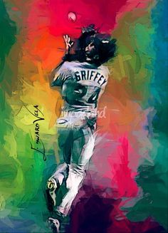 """Ken+Griffey+Jr++Art+by+Edward+Vela""+by+Edward+Vela,+Washington+//++//+Imagekind.com+--+Buy+stunning+fine+art+prints,+framed+prints+and+canvas+prints+directly+from+independent+working+artists+and+photographers."