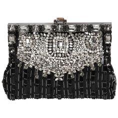 DOLCE & GABBANA Vanda Embellished Satin Clutch - Black (€2.260) ❤ liked on Polyvore featuring bags, handbags, clutches, borse, black, dolce gabbana purse, satin purse, sequin handbags, hand bags and beaded clutches