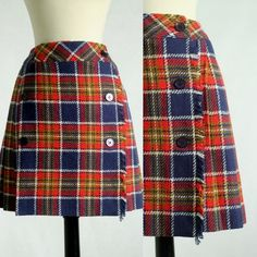 1960s Wool Wrap Mini Skirty $40 by SassySisterVintage