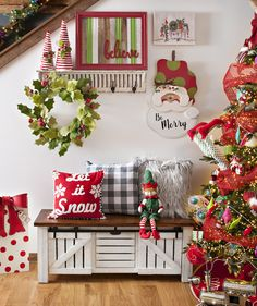 44 welcoming and cozy christmas entryway decoration ideas 11 Christmas Entryway, Christmas Bathroom Decor, Farmhouse Christmas Decor, Noel Christmas, Rustic Christmas, White Christmas, Vintage Christmas, Whimsical Christmas, Christmas Coffee