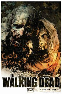 The Walking Dead Season 2 SDCC signed poster Comic Art