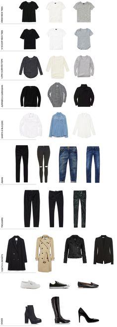 A Capsule Wardrobe // The Basics - Becca Haf                                                                                                                                                      More #WardrobeBasics