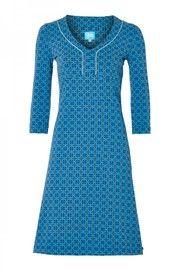 DRESS PEPITA BLUE Nog 1 jurk maat L