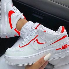 Shared by Srahly. Find images and videos about white, shoes and red on We Heart It - the app to get lost in what you love.