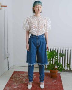 Dark Wash Demi-Denim Jeans