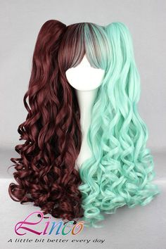 70cm-60cm-Long-Multi-Color-Beautiful-lolita-wig-Anime-Wig lace wig special wig LW045 on Etsy, $29.95
