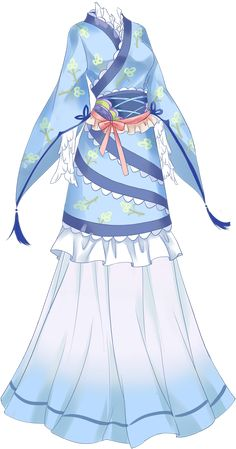 Anime Kimono, Anime Dress, Dress Drawing, Drawing Clothes, Costume Alice, Anime Outfits, Cool Outfits, Kleidung Design, Fantasy Dress