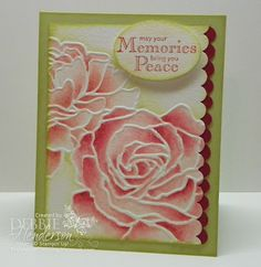 handmade card ... Manhattan roses ... from: Debbie's Designs: Watercoloring!  .... used ink pad and blender pen ... beautiful!!!