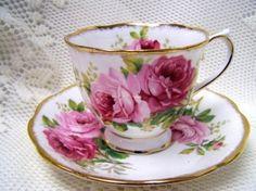 Royal Albert American Beauty tea cup & saucer my set Royal Albert, China Tea Cups, Teapots And Cups, Vintage Dishes, Vintage Teacups, Vintage China, My Cup Of Tea, Tea Cup Saucer, High Tea