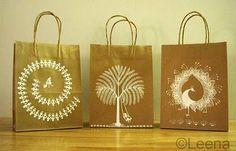 Art is life...life is art!: Warli art on paper bags!