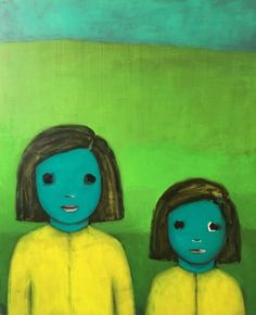 Ayse Wilson is a Turkish-American artist who paints children with stylized…
