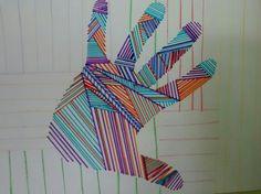 Quién fuera una momia colorida, para lucir semejante mano!