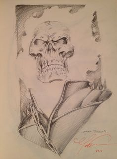 Ghost Rider Convention Sketch by Mark Texeria Comic Art