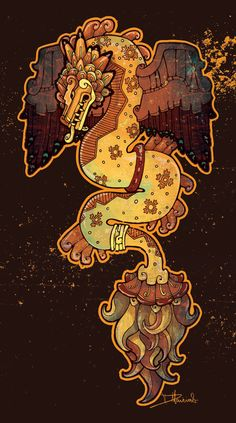 Commission - Quetzalcoatl by dmillustration