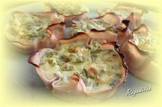 Tartaletas de pavo y queso cottage, #recetas #dukan