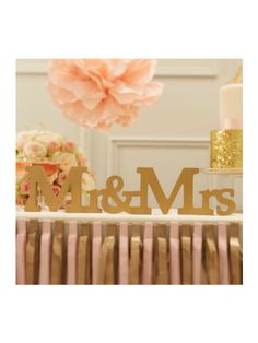 Letras Doradas MR & MRS