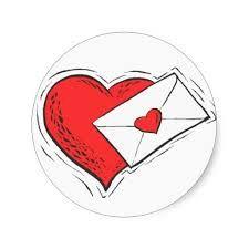 Coraçã e uma carta de amor