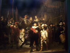 """One of our favorite paintings that we viewed  was """"The Night Watch"""" by Rembrandt van Rijn."""
