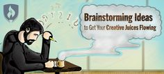 brainstorming ideas to get your creative juices flowing!