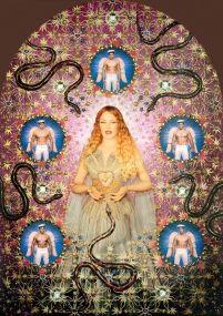 Tentoonstelling Kunsthal Rotterdam: Jean Paul Gaultier, La Vierge aux serpents (Kylie Minogue), 2008, foto Pierre et Gilles