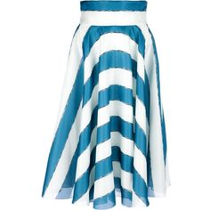 Dolce & Gabbana Striped Silk Skirt ($1,595) found on Polyvore