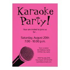 120 Best Karaoke Birthday Party Invitations Images On Pinterest
