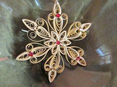 Custom Christmas Ornament / Quilled