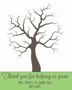 Thank You for Helping Us Grow Fingerprint Tree by MyBellasBowtique