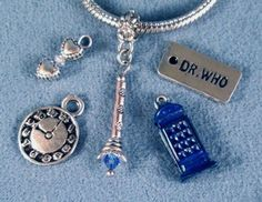 Doctor Who Charms - I love them. Most of them, esp the two hearts, screwdriver, and clock
