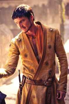Costume with embroided sun for Oberyn Martell (Season 4). From Game of Throne  costume designer Michele Clapton