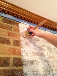 How to Whitewash Brick - Farm Fresh Vintage Finds