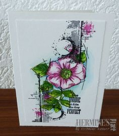Hermine's Place A creative way to express myself Card Making Inspiration, Making Ideas, Steampunk Cards, Sheena Douglass, Crafters Companion Cards, Poppy Cards, Junk Art, Pretty Cards, Flower Cards