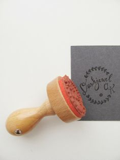 Custom rubber stamp by Mino Paper Sweets